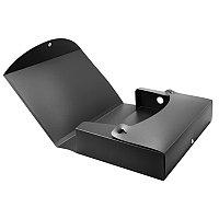 Папка архивная короб пластиковый на кнопке 70мм черная # А70-80V