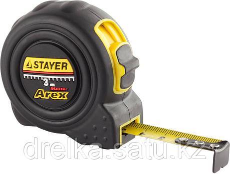 """Рулетка STAYER """"PROFI"""" """"AREX"""", двухкомпонентный противоударный корпус, упрочненное полотно, 3м/16мм, фото 2"""