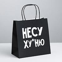 Пакет подарочный «Несу Ху*ню», 22 х 22 х 11 см