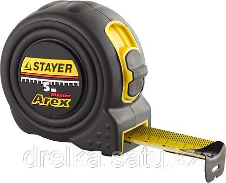 """Рулетка STAYER """"PROFI"""" """"AREX"""", двухкомпонентный противоударный корпус, упрочненное полотно, 5м/25мм , фото 2"""