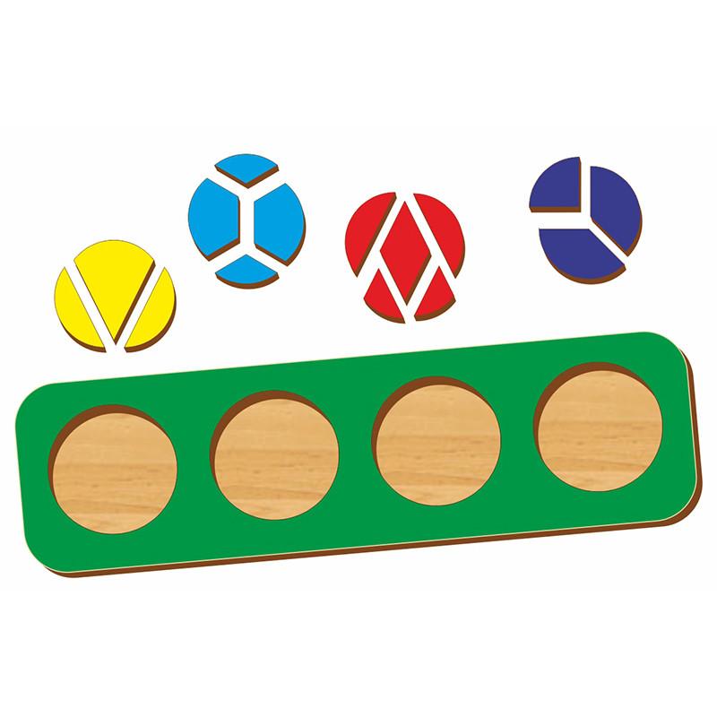 """Woodland Рамка-вкладыш """"Дроби"""", 4 круга, 4 уровень"""