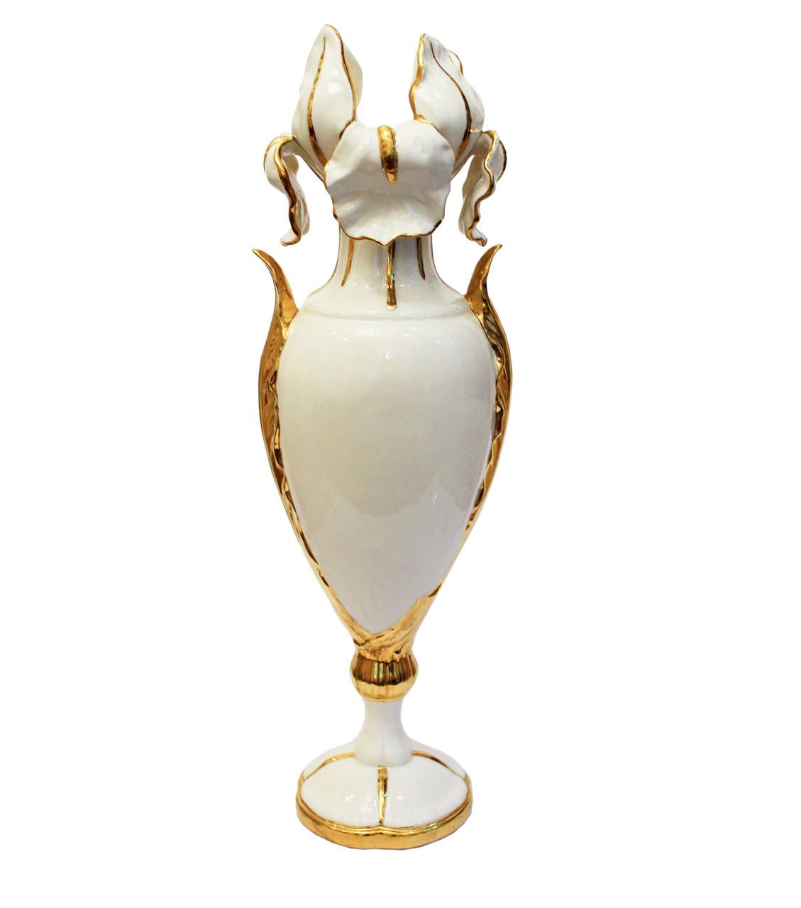 Ваза Ирис. Золото, керамика, Италия
