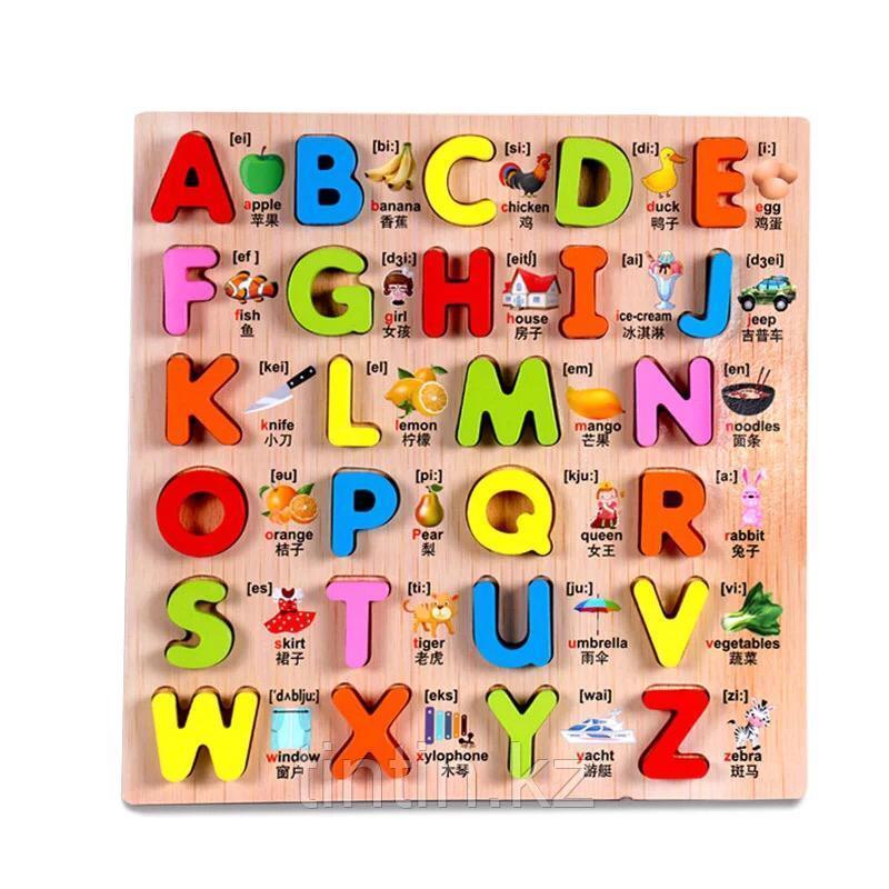 Рамка-вкладыш - Английский Алфавит, 30х30х2см.