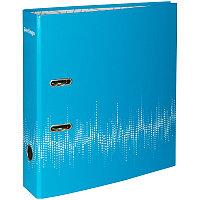 """Папка-регистр Berlingo """"Neon"""" 70мм неоновая голубая, ламинированная 70801"""