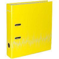 """Папка-регистр Berlingo """"Neon"""" 70мм неоновая желтая, ламинированная 70803"""