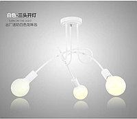 Люстра в стиле Loft белая на 3 лампочки, фото 1