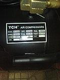 Воздушный бесшумный компрессор, безмасляный tch zz 1160x2/60л, фото 3