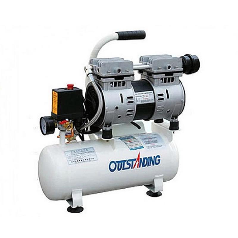 Воздушный бесшумный компрессор, безмасляный SGW 550/8л