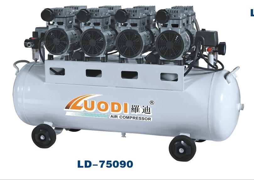 Воздушный бесшумный компрессор, безмасляный tch zz 1175x4/140л