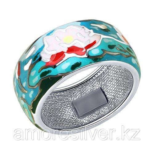 Кольцо из серебра с эмалью   SOKOLOV 94012214