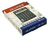 """Калькулятор настольный SKAINER """"111"""" 12 разрядный черный, фото 3"""