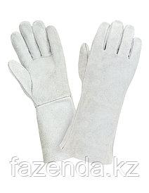 Перчатки - краги спилковые, удлиненные