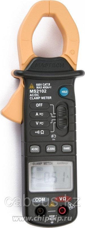 MS2102, Клещи токоизмерительные цифровые ACA&DCA(ACV/DCV, сопр.,прозвон,)
