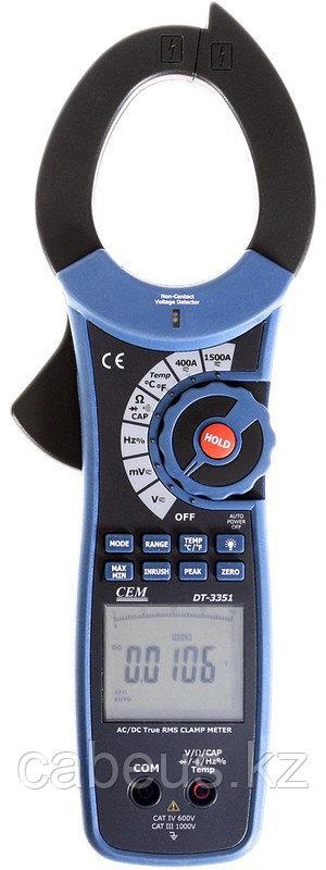 Клещи токоизмерительные проф. CEM DT-3351 для измерения постоянного и переменного тока
