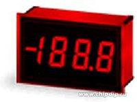 DMS-20PC-1-RL-C, Вольтметр цифровой, измерительная головка до 2В, приглушенный красный