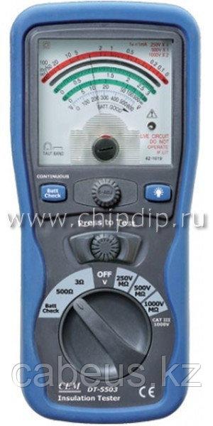 DT-5503 Аналоговый тестер изоляции и электропроводимости
