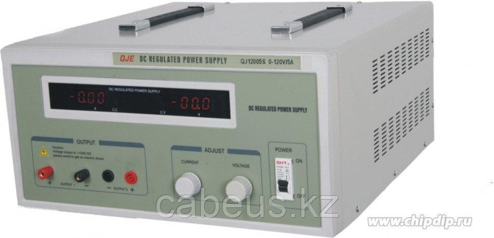 QJ12005S, Источник питания 0-120V-5A 2xLED