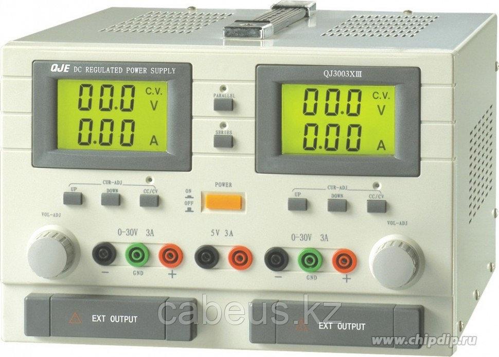 QJ3003X III, Источник питания, 0-30V-3Ax2;5V3A 2xLCD