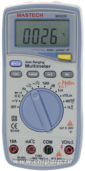 MS8209, Мультиметр цифровой