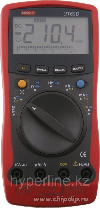 UT60D, Мультиметр цифровой с автоматическим выбором диапазона