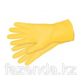 Перчатки хозяйственные, латекс