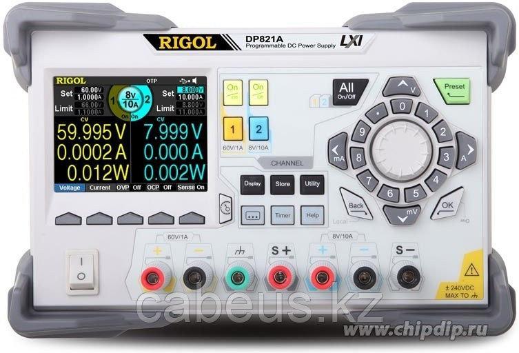 DP821A, Источник питания программируемый 0-8В-10А/0-60В-1А (Госреестр)