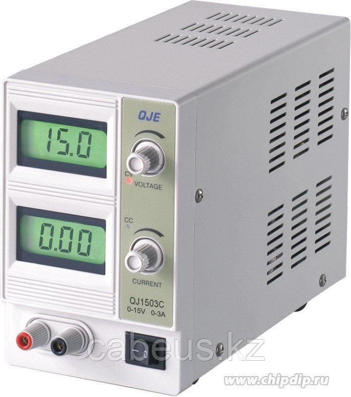 QJ1503C, Источник питания, 0-15V-3A 2xLCD