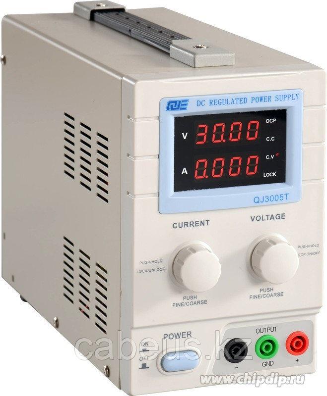 QJ3005T, Источник питания, 0-30V-5A 2xLCD