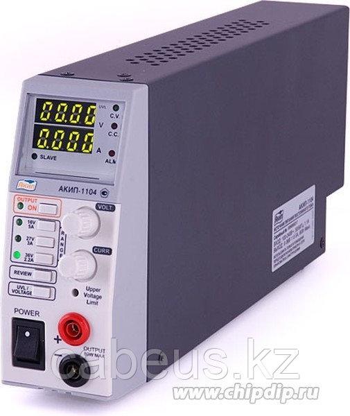 АКИП-1104, Источник питания, 0-16V-5A,0-27V- 3A,0-30V-2.2A, переключаемые) 2xLCD (Госреестр)