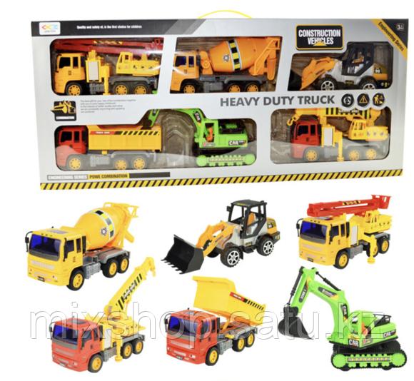 Детский набор строительных машин 6 в 1 Heavy Duty Truck