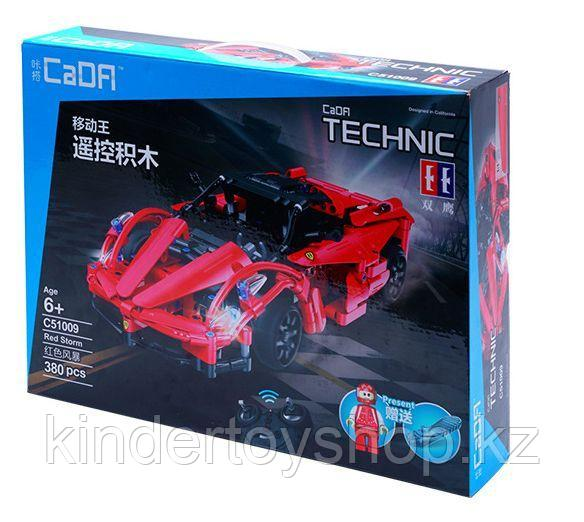 Конструктор на радиоуправлении CaDa Technic 2,4Ггц Спортивная машина 380 детали (C51009W) аналог Lego Technic