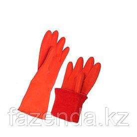Перчатки резиновые хозяйственные с ворсом