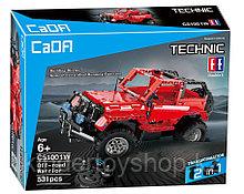 Конструктор на радиоуправлении CaDa Technic 2,4Ггц Джип 2-в-1 531 деталь (C51001W) аналог Lego Technic