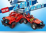 Конструктор на радиоуправлении CaDa Technic 2,4Ггц Джип 2-в-1 531 деталь (C51001W) аналог Lego Technic, фото 2