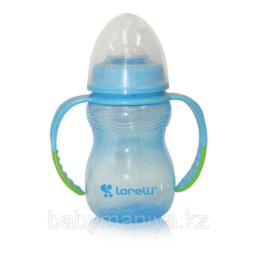 Бутылочка для кормления с ручками Baby Care Lorelli 250 мл