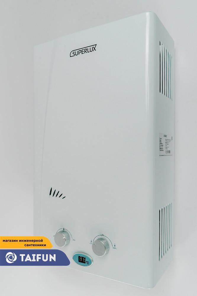 Газовая Колонка SUPERLUX 10L CF NG (20кВт) Газовый проточный водонагреватель - фото 1