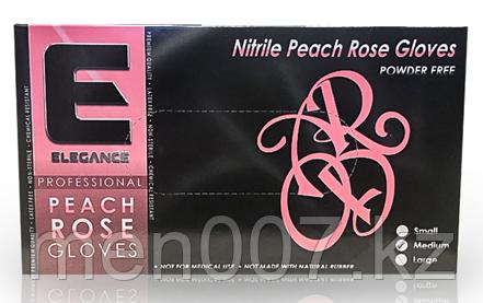 Профессиональные нитриловые перчатки (розовые) Elegance 100 шт. размер S размер M размер L