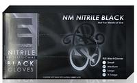 Профессиональные нитриловые перчатки (черные) Elegance 100 шт. размер S размер M размер L размер XL