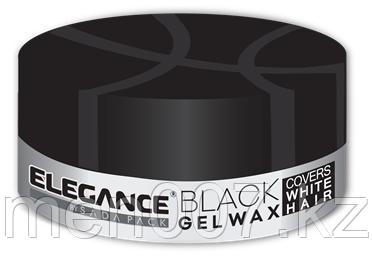 Гель для волос с эффектом зачернения Elegance Black Gel wax 140 гр.