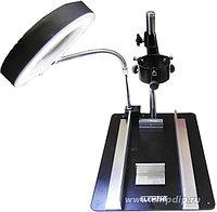 ELEMENT 628TD-III (628А-I I I-А), Рабочий стол с держателем фена и платы, лупа с подсветкой