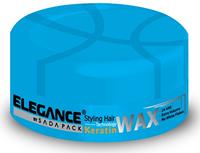 Воск для волос с кератином Elegance для сильной фиксацией и придающий дополнительный объем 140 гр.