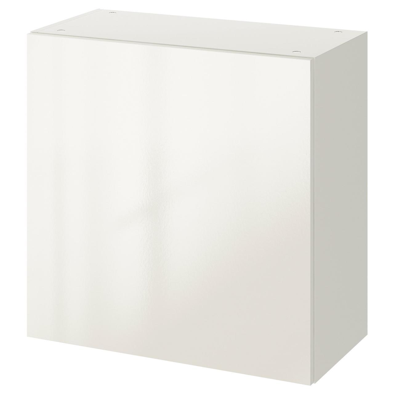 КНОКСХУЛЬТ Навесной шкаф с дверцей, глянцевый белый