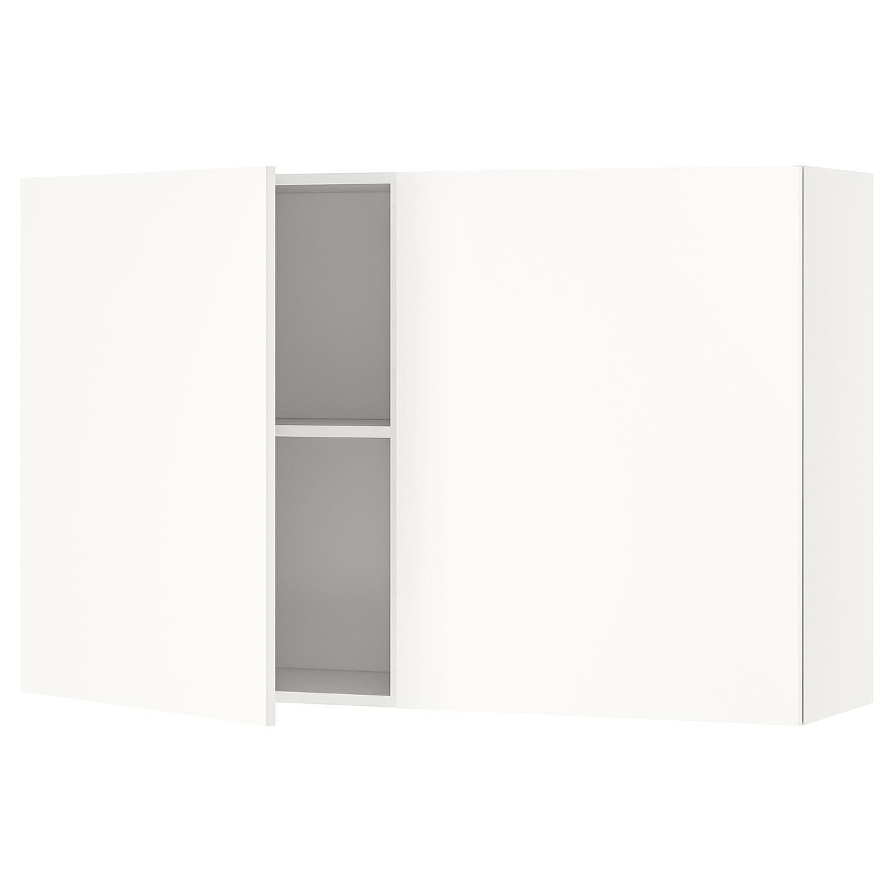 КНОКСХУЛЬТ Навесной шкаф с дверями, белый
