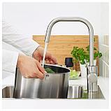 ЭЛМАРЕН Смеситель кухонный, цвет нержавеющей стали, фото 3