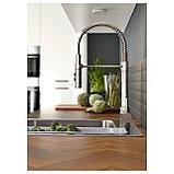 ВИММЕРН Смеситель кухонный с душем, цвет нержавеющей стали, фото 6