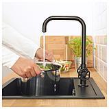 ГАМЛЕШЁН Смеситель кухонный с 2 вентилями, черный металл, фото 2