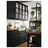 ГАМЛЕШЁН Смеситель кухонный с 2 вентилями, черный металл, фото 5
