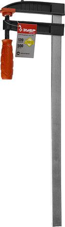 """Струбцина ЗУБР """"МАСТЕР"""", тип """"F"""", пластмассовая ручка, стальная закаленная рейка, 120х500мм, фото 2"""