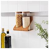 РИМФОРСА Подставка с контейнерами, стекло, бамбук, фото 3