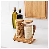 РИМФОРСА Подставка с контейнерами, стекло, бамбук, фото 4